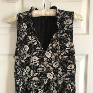 J.Crew Ruffle-trimmed Tie-front top in floral.